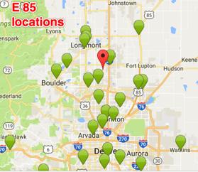 E 85 Colorado locations