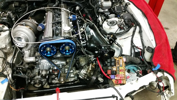 Toyota Supra Turbo fabrication